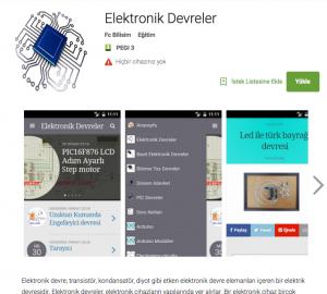 Mobil Elektronik devreler uygulaması