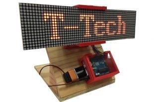 Arduino ile kayan yazı devresi